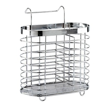 Stainless Steel Chopsticks Drainer Cage Cutlery Spoon Storage Box Rack Kitchen Organizer Racks & Holders