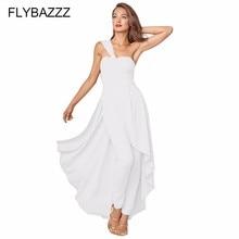 One Shoulder Elegant Irregular Bodycon Dress Women 2019 Plus Size Jumpsuit Split High Waist Beach Strapless Party Vestidos