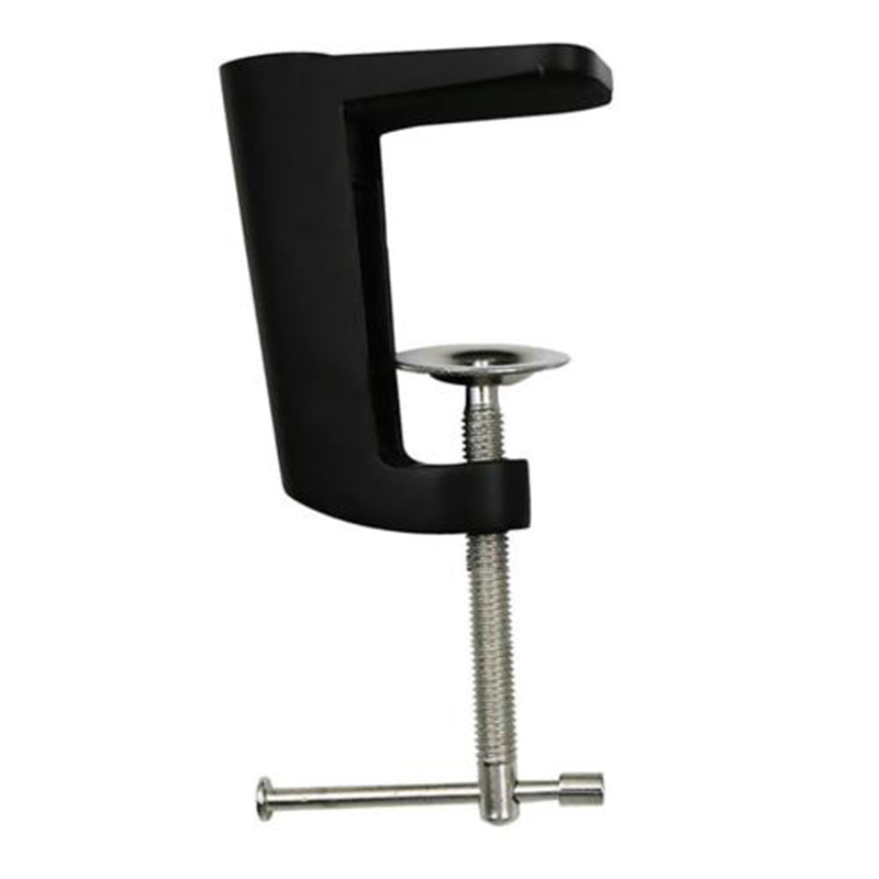 Adjustable Magic Articulated Arm Clamp Table Lamp Clip Base Holder Aluminum Alloy Swing Stand Black for LED Light Video Camera image