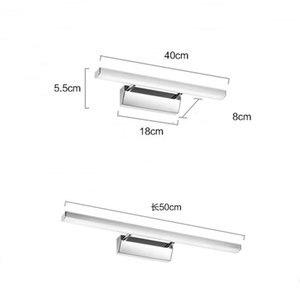 Image 5 - Chinese stijl wastafel wasbak led spiegel koplamp eenvoudige moderne badkamer spiegel blaker lamp AC85 265V