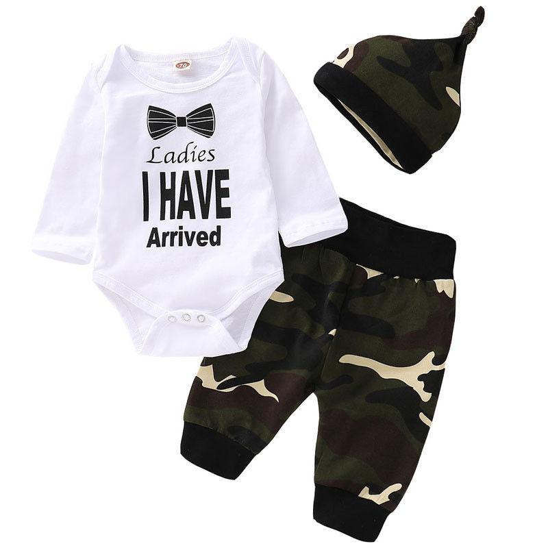 puseky Baby Jungen Langarm T-Shirt Camouflage Hose Trainingsanzug Outfit Set