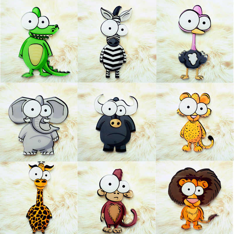 Alergia libre los hombres lindo broche de las mujeres de dibujos animados de animales sombrero Venta caliente ropa 1PC 2019 nueva llegada Mono león Acrílico broche mochila
