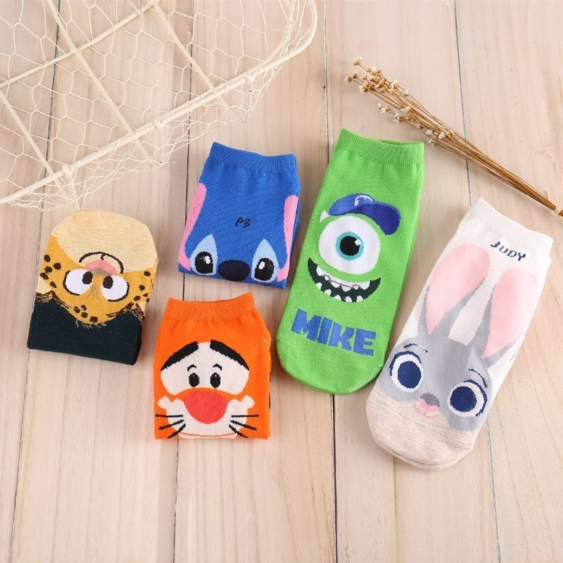 Cotton Cartoon Ladies   Socks   Crazed Animal Judy Rabbit Nick Stitch Mr.q Tigger Women/kids   Socks   Film Theme Women   Socks
