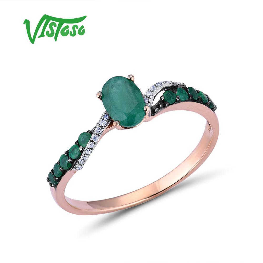 Sparkling Round Jade Ring Women Wedding Jewelry 14K White Gold Plated