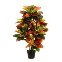 110cm Colorful Latex Artificial Plant Tree Wedding Home Beach Office Furniture Decor Green Branch Fake Foliage With Pot