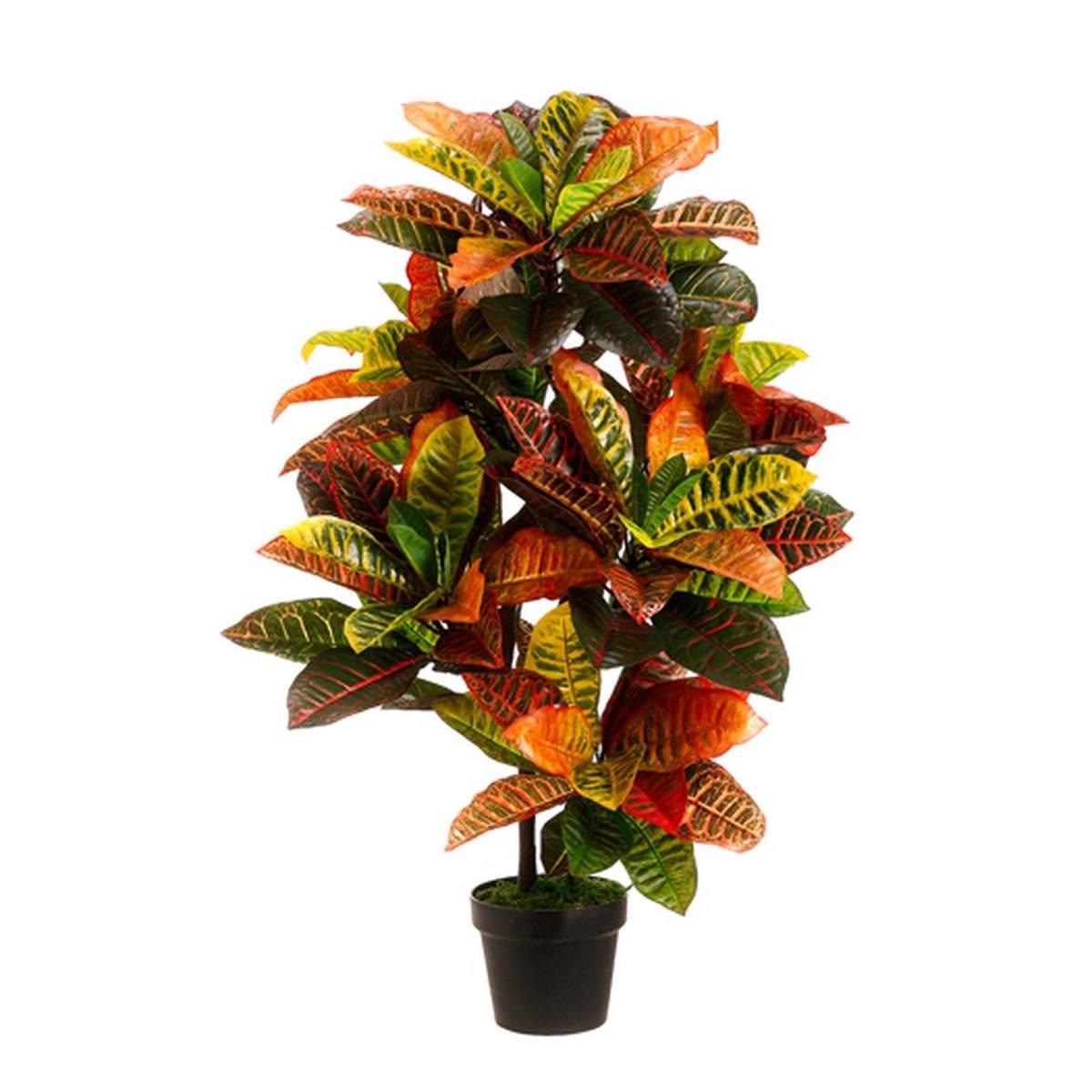 110cm coloré Latex artificiel plante arbre mariage maison plage mobilier de bureau décor vert branche faux feuillage avec Pot