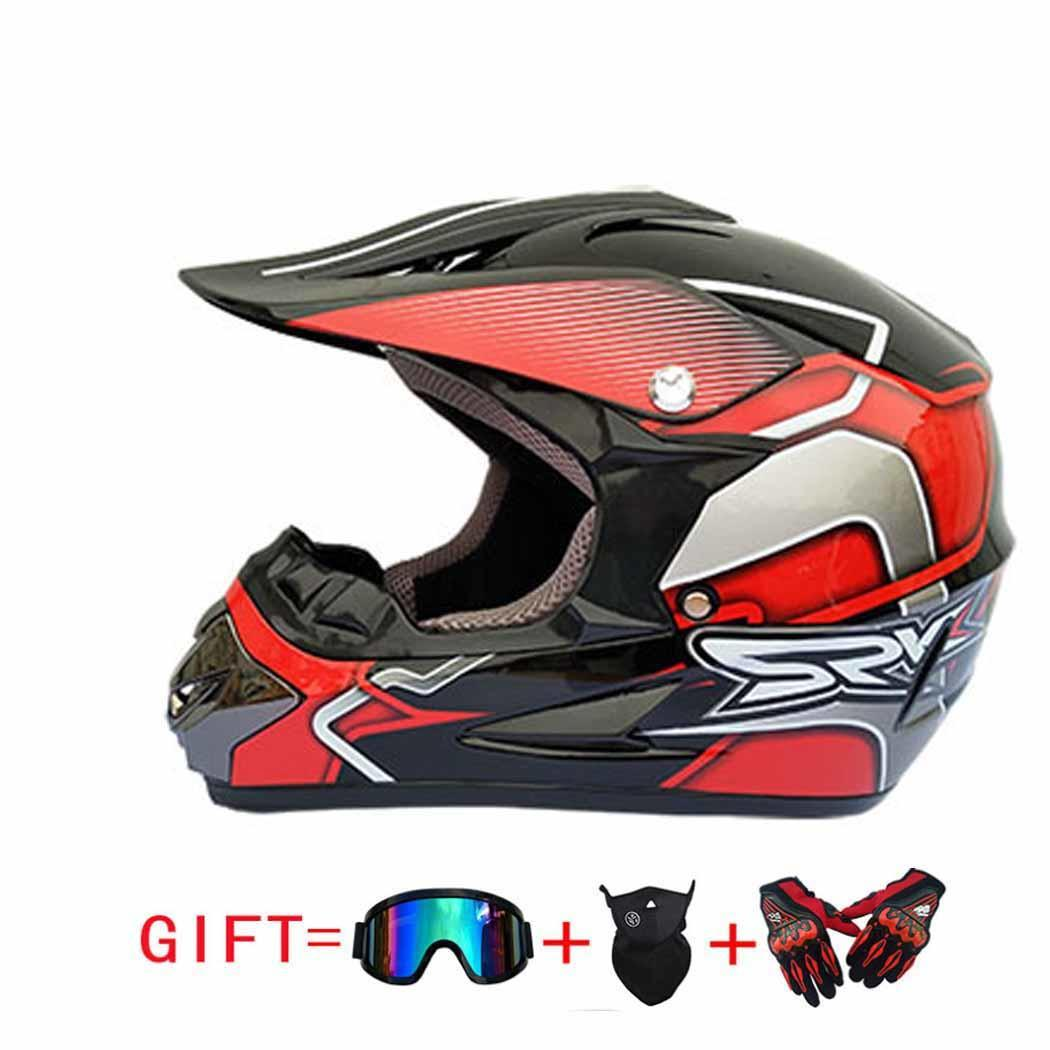 Vtt course vélo moto hors route casque confortable Capacete respirant casque de moto avec lunettes masque facial gants