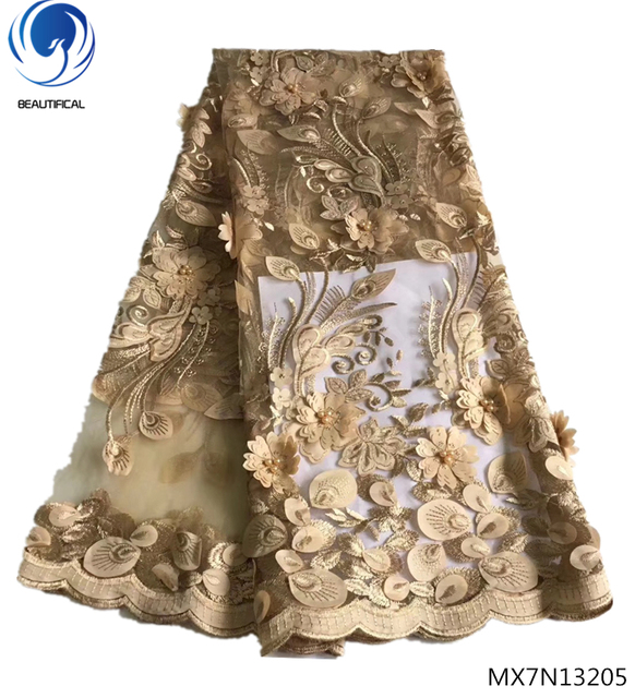 116246d93a Beautifical 3d lace fabric african fabrics wedding laces 5yards/piece for  women clothing MX7N132