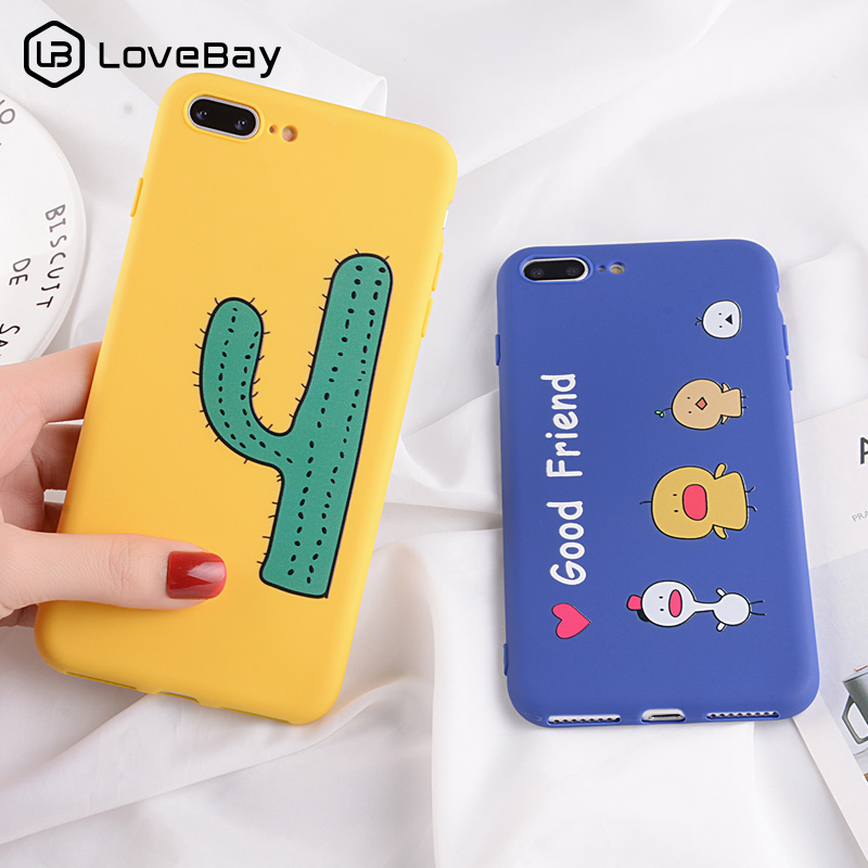 ff1a0b23a9 Lovebay Cartoon Couples Case For iPhone 7 8 Plus Funny Letter For iPhone XS  Max X XR 6 6S Plus Soft TPU Silicon Phone Case Cover