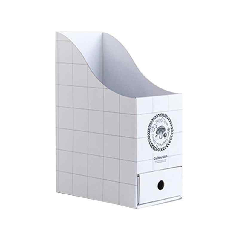 1 шт. блок держателей для папок держатель настольный органайзер с ящиком картонный из упаковочной бумаги документы файл подставка держатель для файлов для офиса