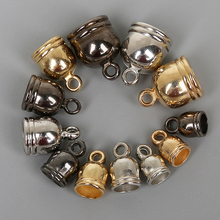 50 шт./упак. 4 размера пистолет черного и золотого цвета Серебряные серьги браслет ожерелье на лодыжку кончик колпачки для кисточек из бисера