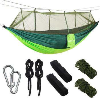 1-2 Person Outdoor Camping Hammock Mosquito Net Hammock Portable Furniture Ultralight Camping Hammock Hanging Sleeping Bed Swing ultralight outdoor camping hunting mosquito net parachute hammock 2 person flyknit hammock garden hammock hanging bed