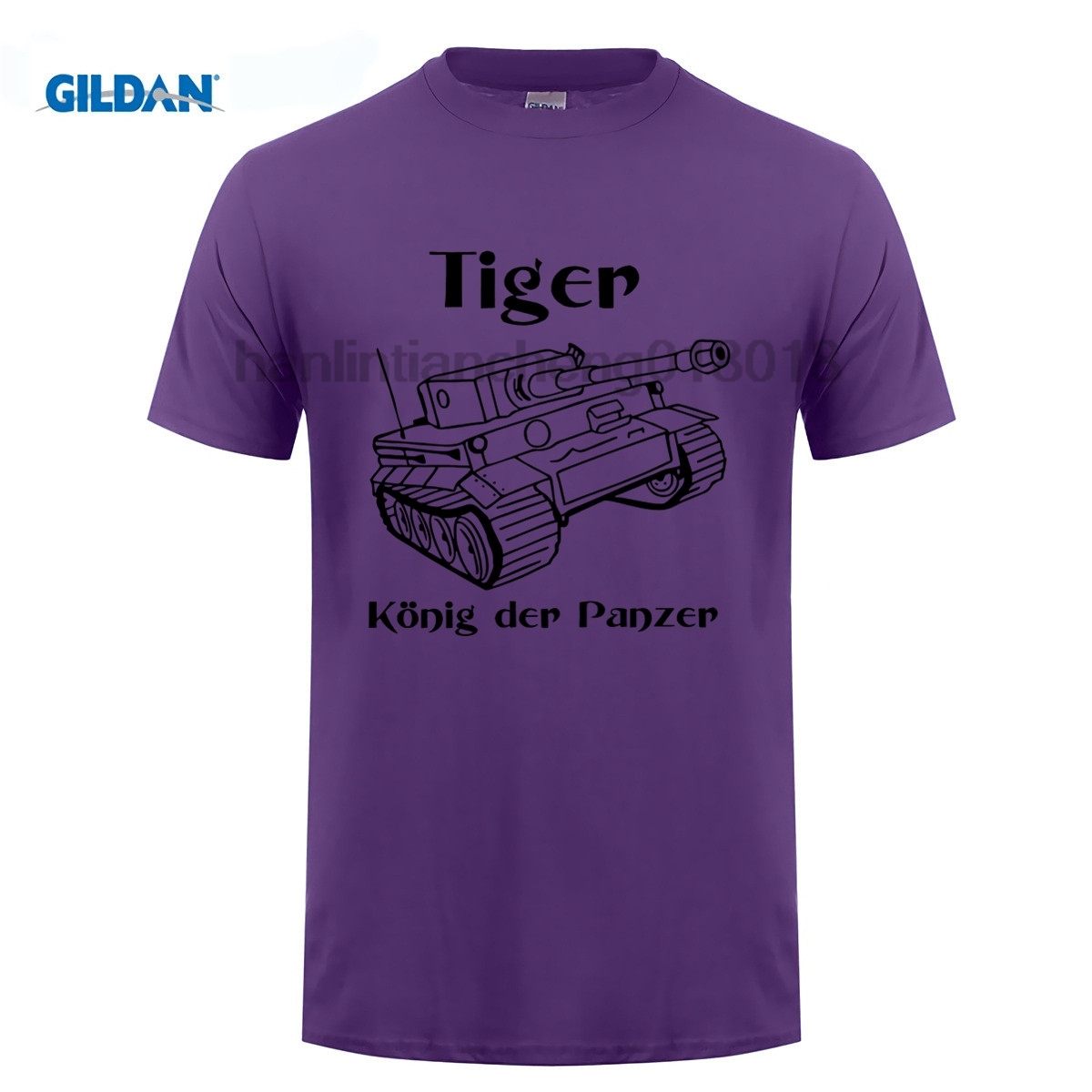 GILDAN Men T Shirt 2018 Summer 100 Cotton Casual Short Sleeve Tops Tee Panzer Tiger Tank Wehrmacht Germany O Neck T Shirt in T Shirts from Men 39 s Clothing