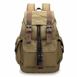 Outdoor Sports Travel Luggage Army Bag Canvas Hiking Backpack Camping Tactical Rucksack Men Women Military Students Hot Mochila