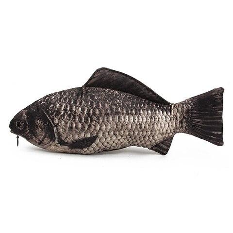 peixe real like caso ziper lapis caneta saco engracado peixes de agua doce make up