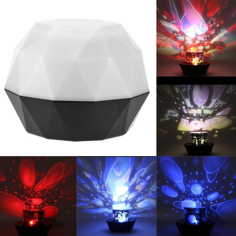 LED Night Light USB Projector Moon Lights Children Room Projection Lamp