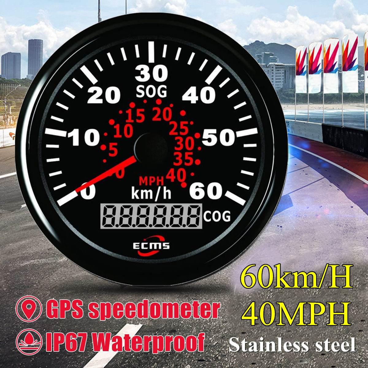 85mm Auto Car Truck Marine GPS Speedometer Waterproof Speed Sensor Meter Gauge Digital Odometer Automobiles Replacement Parts