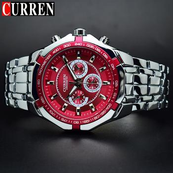 Curren Mens quartz Full stainless steel Military Casual Sports watches waterproof Brand Hot Sale relogio masculino Wristwatch