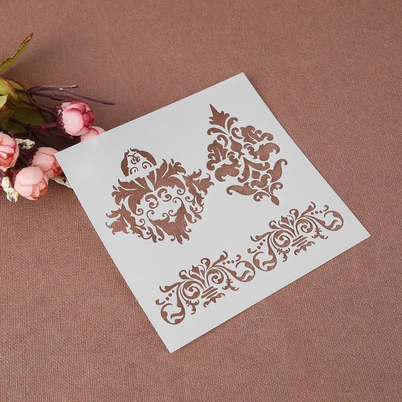 Nova Impressão scrapbook stencils spray de plástico escudo do molde DIY bolo oco impressão Embelezamento rendas governante dos namorados