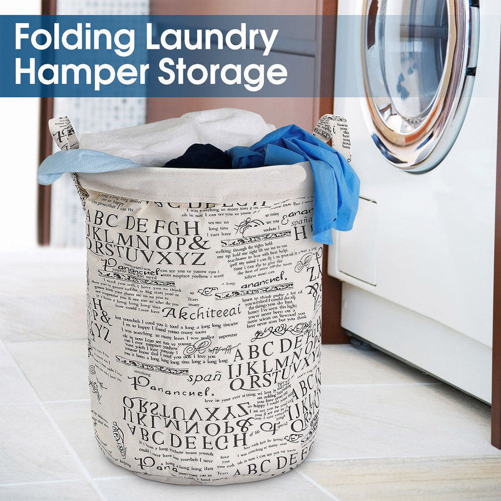 Large Size Foldable Non-Woven Fabric Laundry Basket Mesh Hamper Washing Clothes Bags Storage Bin Flamingo Cartoon Laundry Basket