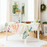 Pastoral country wallpaper garden tablecloth table cover thicked table cloth home kitchen outdoor party banquet decoration