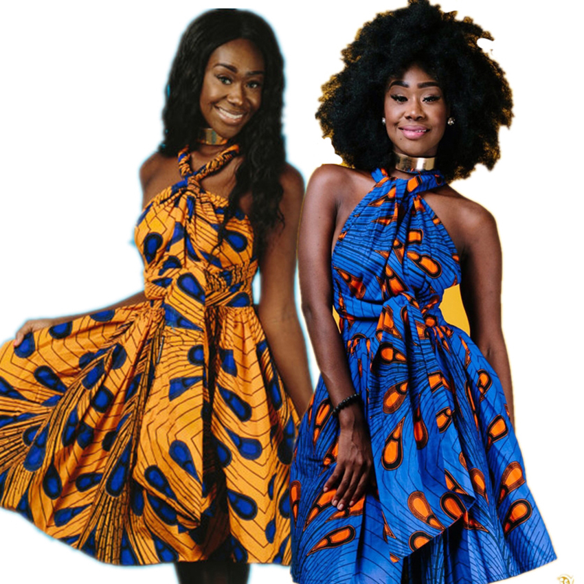 2019 News African Dress for Women National Floral Night Club Fashion Dashiki Bazin Party Elegant Clothing Multiple Wearing