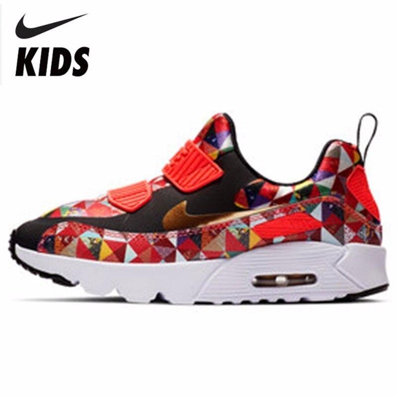 NIKE AIR MAX TINY 90 BP малыша движения детей обувь дети кроссовки удобные кроссовки # BV6663 617