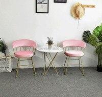Принцессы розовый стул для маникюра девушка макияж гладить пол Современные Кресло шезлонг стул для гостиной спальня мебель для дома