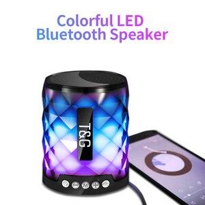 Image 1 - TG Colorful Led Bluetooth Altoparlante Esterno Portatile Bass Altoparlante Senza Fili Mini Colonna di Sostegno della carta di TF FM Stereo Hi Fi Scatole