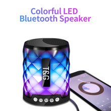 TG Colorful Led Bluetooth Speaker Portable Outdoor Bass Loudspeaker Wireless Mini Column Support TF card FM Stereo Hi-Fi Boxes(China)
