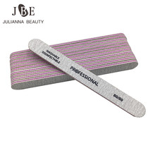 10pcs UV Gel Nail File Grey Sandpaper Nail File for gel nails 80/80 Manicure Strong Thick Sanding Buffs Buffing Nail Care Tool