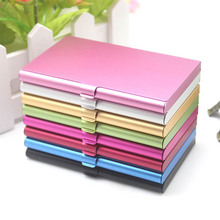Portable Business Card Case Aluminum Alloy 1Pcs personality Metal Box