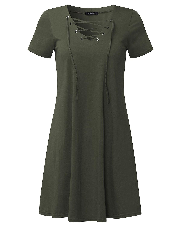 2019 Summer Sexy Front Bandage Dresses Women Casual Loose Short Sleeve V-Neck Elegant Party Bodycon Mini Short Dress Vestidos XL