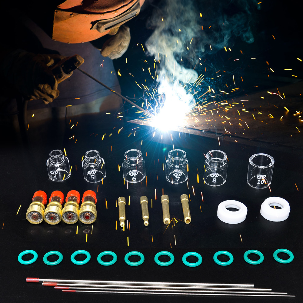 30pcs Practical TIG Welding Torch Stubby Gas Len Glass Cup Tungsten Needle For WP - 17/18/26 Multicolor Tool Parts Cutting Tools30pcs Practical TIG Welding Torch Stubby Gas Len Glass Cup Tungsten Needle For WP - 17/18/26 Multicolor Tool Parts Cutting Tools