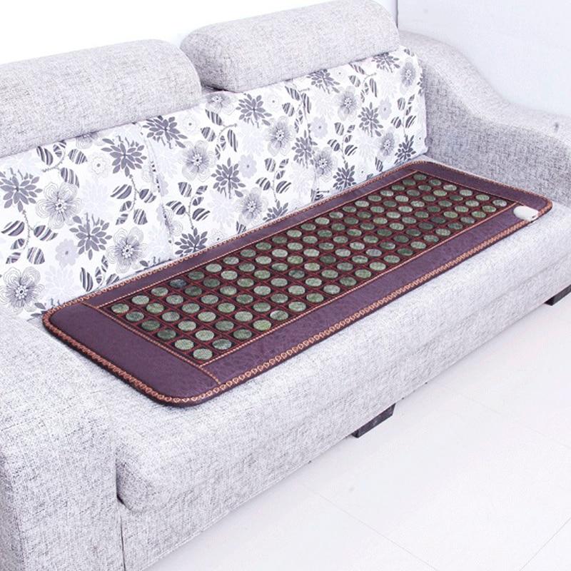 Korea Health Sofa Mattress Tourmaline Jade Germanium Electric Heating Physiotherapy Stone Massage Mat Thermal Mattress