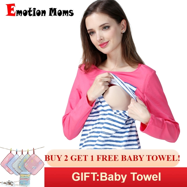 3e060137215 Emotion Moms Stripe Maternity Clothes Breastfeeding shirts Nursing Tops for pregnant  women pregnancy Maternity Clothing