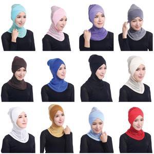 Image 1 - ใหม่ล่าสุด CHIC LADY Modal Hijab ฤดูร้อนผู้ใหญ่ผ้าพันคอ Hijabs อิสลามหมวก Bonnet นินจาคอมุสลิม Underscarf