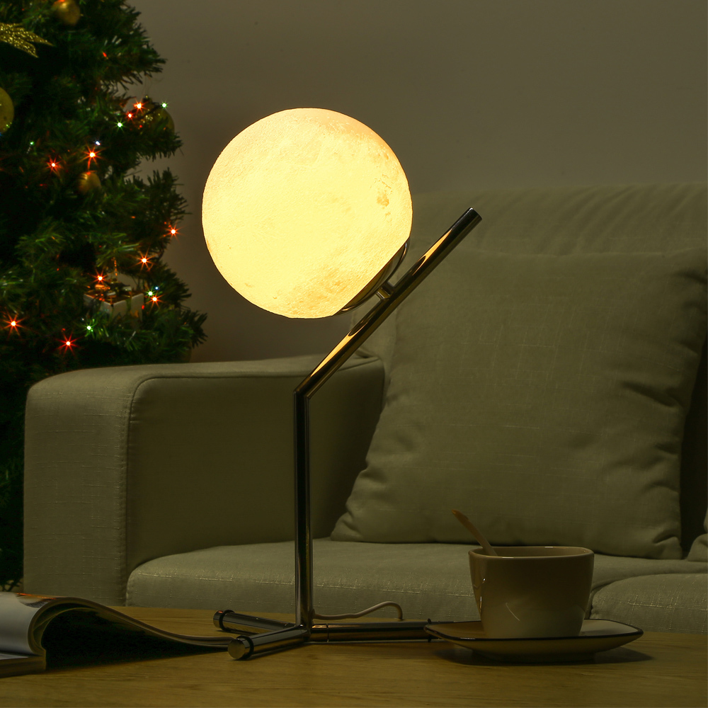 3d печатная Луна Ночная спальня настольная лампа Led Moontop настольная ночник 3 Вт Usb Съемная лампа для учебы для гостиной дома деко - 3