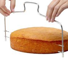 Нержавеющая сталь Регулируемая 2-проводная двухслойная торт слайсер торт декоративная форма Кухня Торт Инструменты для выпечки