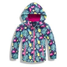 Непромокаемые куртки для девочек, верхняя одежда, спортивная куртка, ветрозащитное флисовое теплое пальто, Осенняя детская куртка, Детская ветровка с капюшоном