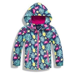 Image 1 - Kızlar su geçirmez ceketler dış giyim spor ceket rüzgar geçirmez Polar Polar sıcak tutan kaban sonbahar çocuk ceket çocuklar rüzgarlık kapüşonlu