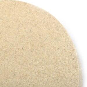 Image 5 - 1pc Beige Polishing Buffing Grinding Wheel Wool Felt Polisher Disc 25mm Thickness 8 Inch/200mm Polishing Wheels