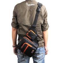 iLure Waterproof Canvas Fishing Bag Multi Purpose Outdoor Bag Reel Lure Bags Pesca Fishing Tackle Bag Green/Orange/Black