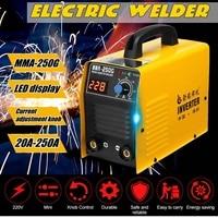 20 250A 25KVA IP21 Inverter Arc Electric Welding Machine IGBT/MMA/ARC/ZX7 Welder for Welding Electric Working Digital Display