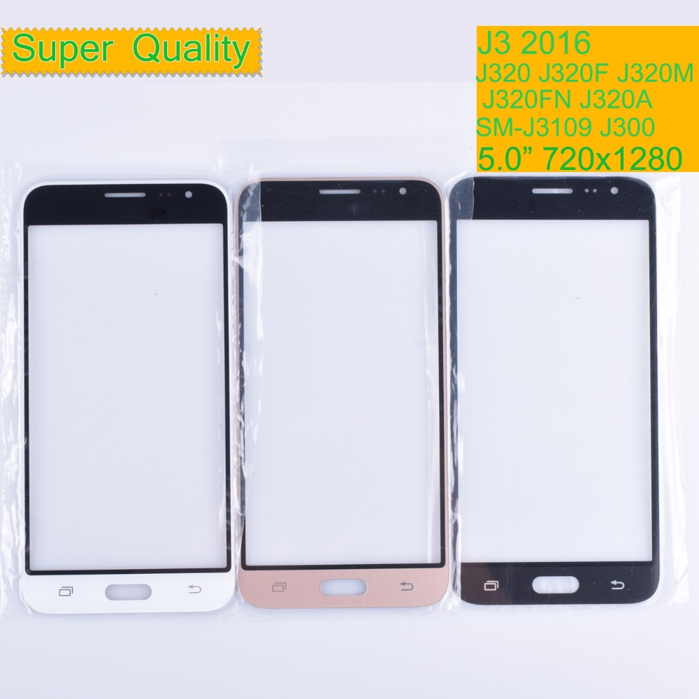 10Pcs/lot For Samsung Galaxy J3 2016 J320F J320M J320H J320FN J300 J320 Touch Screen Front Outer Glass TouchScreen Lens