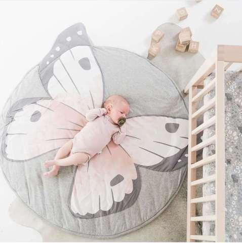 ins borboleta leao cobertor animal do natal impressao rastejando chao mat jogo tapete decoracao do