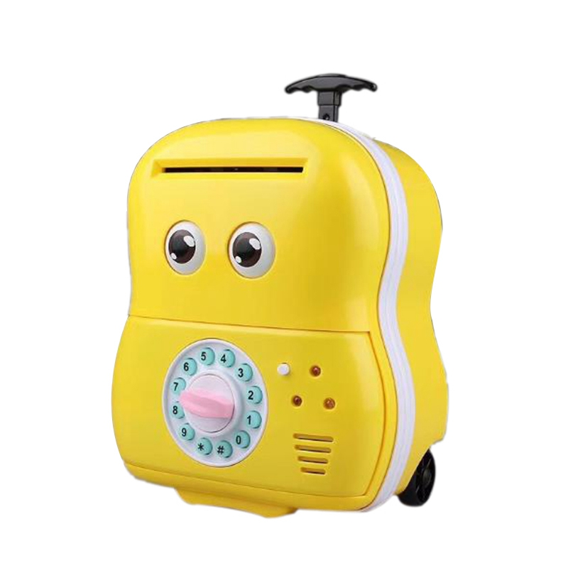Creative Luggage Piggy Bank Mini Money Box Electronic Password Voice Chewing Coin Cash Deposit Machine Gift For ChildrenCreative Luggage Piggy Bank Mini Money Box Electronic Password Voice Chewing Coin Cash Deposit Machine Gift For Children