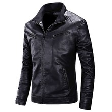 Motorcycle Causal PU Leather Warm Jacket Coat Men Spring Casual Masculinas Inverno Couro Jacket Overcoat Men
