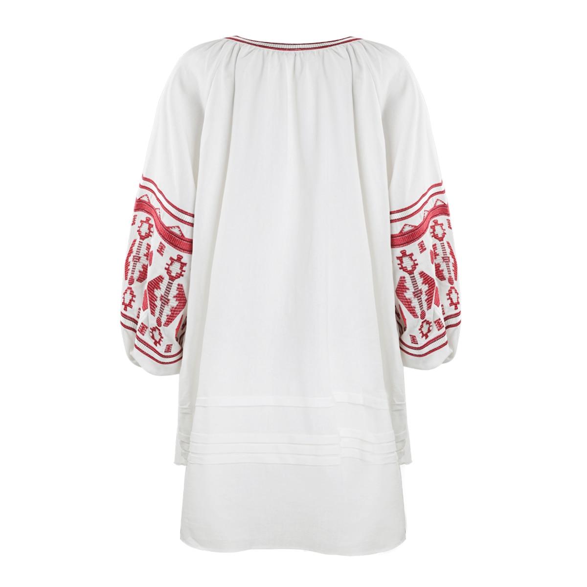 Retro Dress Size Style Lantern United Embroidery States 80 Large Kissmilk Sleeve Ethnic And Europe The Sleeves Long Z1wWxxqzH