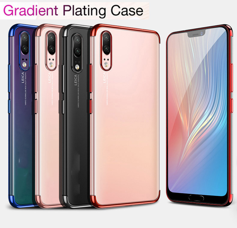 Transparent case for Samsung Galaxy A9 2018 cases Plating Ultra thin soft TPU electroplate shining case for Samsung A7 2018 A750 in Fitted Cases from Cellphones Telecommunications